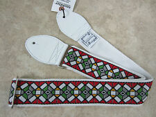 SOULDIER Guitar Strap STAINED GLASS RED WHITE Vintage Style Woven Jimi Hendrix