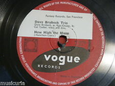 78 rpm DAVE BRUBECK TRIO how high the moon / squeeze me V.2170