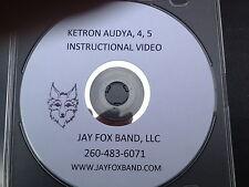 Ketron Audya, Audya 5 & Audya 4 Instructional DVD w/rewritten owners manual