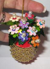 """Basket of Flowers"" Kit makes 1 Ornament Bead & Sequin Christmas"