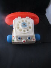 vintage Fisher Price pull-toy Phone Rotary Retro set 747