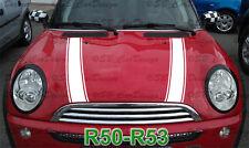 Strisce stripes ADESIVI COFANO per Mini Cooper r50 r52 r53 ONE WORKS Jack