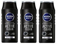 (13,29€/L) 3x 250ml Nivea Men Active Clean Pflegeshampoo Activ Kohle Haarpflege