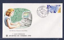 enveloppe 1er jour   journée du timbre  83 St Germain Lembron    1990