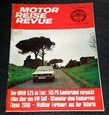 Motor Reise Revue AvD 06/74 Test BMW 525,Ottomotor-Alternativen,Der neue VW Golf