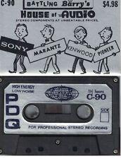 Vintage Blank Cassette Tape C-90 Battling Barrys House Of Audio New York 1970's