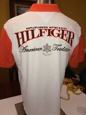 Rare Vintage Tommy Hilfiger Short Sleeve Polo Full Embroidery Size XL