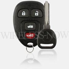 Car Fob Keyless Remote 4Btn For 2009 2010 2011 2012 Chevrolet Malibu + Key