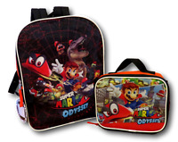 """Super Mario 16"""" School Backpack With Lunch Box Combo Set - 2 Piece"""