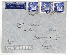 BF198 1935 DUTCH EAST INDIES Soerabaja GB Bexhill-on-Sea Airmail Cover
