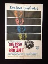 WHAT EVER HAPPENED TO BABY JANE? * DAVIS * JOAN CRAWFORD * ARGENTINE 1sh POSTER