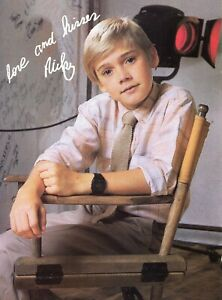 RICKY SCHRODER PINUP CLIPPING FROM A MAGAZINE 80'S YOUNG CUTE IN TIE