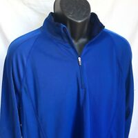 L.L. BEAN Men's XL 1/2 Zip Light Weight Pullover Shirt Jacket Layer Blue LL