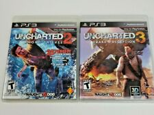 UNCHARTED 2 & 3 PS3 Games Among Thieves & Drake's Deception Sony Naughty Dog