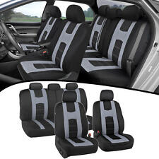 Seat Covers For Car SUV Van New Rome Design Poly Extra Padding Gray Fit Set