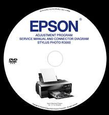Epson Adjustment Program R3000 + Service Manual and Connector Diagram PDF