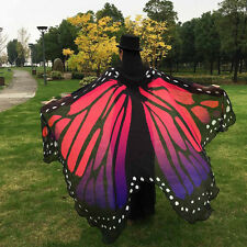 Women Big Butterfly Wing Shawl Stole Scarf Wrap Beach Cosplay Costume Party Gift