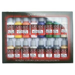 Vallejo Game Color Intro Paint Set of 16 Acrylic Colors for Models & Miniatures