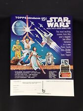 Star Wars 1977 Topps 1st Series Wax Box Pack Sell Sale Order Sheet - ORIGINAL !!