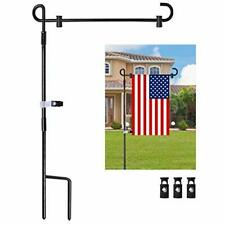 "Garden Flag Pole Stand Durable Flagpole18 35.5"" Yard Banner Pole Stand for Outd"