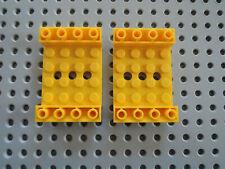 Lego 2 x Schrägstein Rumpf Wanne 60219 gelb 45° 6x4 negativ 5887 5884 5886