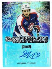 2015-16 Leaf Metal The Naturals Prismatic Autograph Gabriel Vilardi 15/25