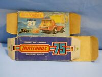 ORIGINAL VINTAGE EMPTY MATCHBOX BOX FOR 37 SKIP TRUCK TOY CAR
