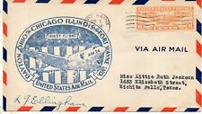 USA 1937 FIRST FLIGHT COVER  FORT WAYNE  AIR MAIL 36 SIGNED
