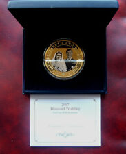 Cook Islands 65mm 2007 gold plated copper-nickel 5 dollars