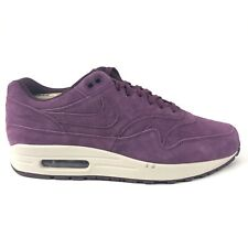 Nike Air Max 1 Premium Mens Suede Bordeaux Purple White Sz 10.5 Shoes 875844-602