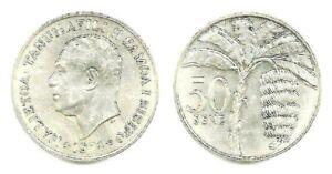 Twenty Western Samoa  50 Sene Uncirculated 1974 Coins, Copper Nickel, KM 17
