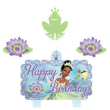 PRINCESS AND THE FROG CANDLE SET (4pc) ~ Birthday Party Supplies Cake Decor