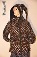 Goa Hippie Ethno Wolle Strick ZIPFEL Jacke Wollen Jacket Fleece Nepal S - M
