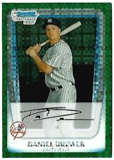 DANIEL BREWER 2011 Bowman Chrome Prospects Green X-Fractors #BCP157