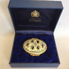 Halcyon Days Enamel Trinket Box Hanoverian Sovereigns 1714 - 1901 Boxed