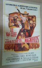 CH1 Original THE MAGNIFICENT SEVEN RIDE! MOVIE Poster Argentina 1972