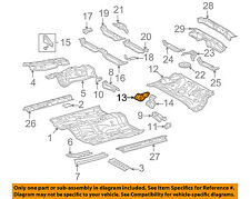 58015-12070 Toyota Reinforce sub-assy, belt anchor, no.3 rh 5801512070, New Genu