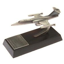 F104 Starfighter Desk Model - Solid Pewter - F-104 Star Fighter - Wooden Base