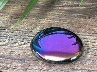 Titanium Aura Palm Stone Crystal Therapy Worry Soap Specimen Reiki Chakra Wicca.