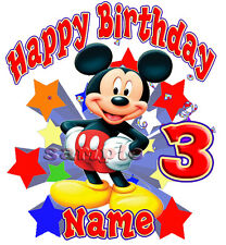 Mickey Mouse Personalized  Birthday T Shirt  Disney Vacation Gift
