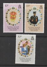 1981 Royal Wedding Charles & Diana MNH Stamp Set Ascension Island SG 302-304
