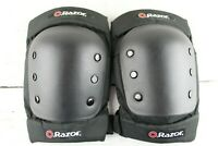 Razor Multi Sport Knee Pads Safety Gear Padded Plastic Size Large Hook and Loop