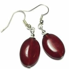 Butterfly Agate Silver Plated Handcrafted Earrings