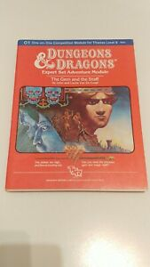 Dungeons & Dragons The Gem And The Staff O1 one-on-one adventure module D&D TSR