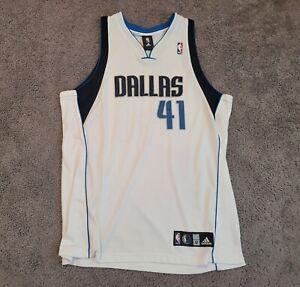 2006-2016 Authentic Adidas Dirk Nowitzki Home Jersey Sz 52