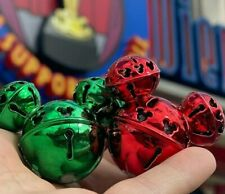 Disney Parks Christmas Red & Green Mickey Jingle Bell Light Up Glow Cube Led Set