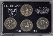 IOM Isle of Man 1984 4 Crowns 13th Parlimentary Conference Unc cased