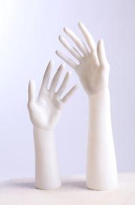 D-3/4Weiß Dekohand Schmuckhand Hand Schaufensterpuppe hell hübsch arm neu