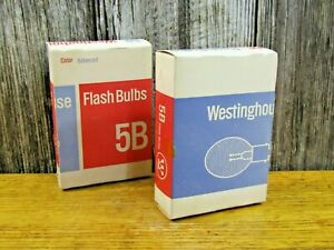 2 Boxes of 6 each Vintage Westinghouse 5B Flashbulbs (total of 12 bulbs)
