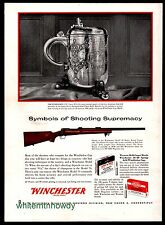 1959 WINCHESTER Model 70 Heavy Barrel Target Rifle AD Original Advertising